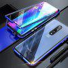 Double-sided Tempered Glass Metal Magnetic Phone Case For OnePlus 7 Pro - BLUE
