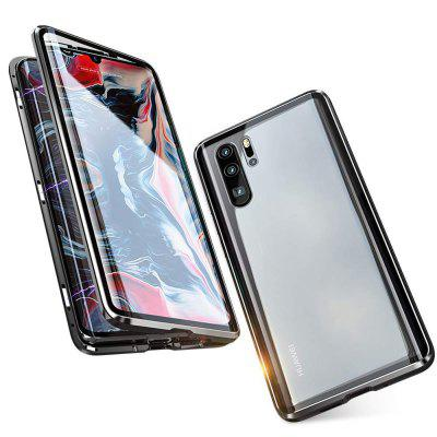 Double-sided Tempered Glass Metal Magnetic Phone Case For Huawei P30 Pro