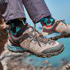 HUMTTO Men Hiking Shoes Outdoor Breathable Cushioning Trekking Leather Shoes - BROWN