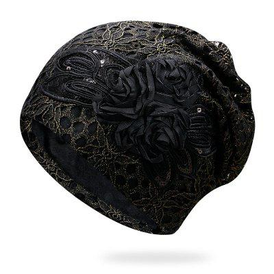 Openwork Lace Hat Breathable Flower Month Cap + Code Comfort 56-59CM