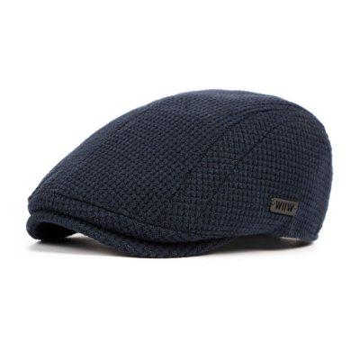 Autumn and Winter Forward Cap Thick Warm Knit Cap + Adjustable for 56-59CM