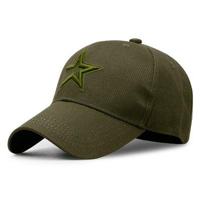 Five-Pointed Star Embroidery Casual Cap + Adjustable for 56-60CM