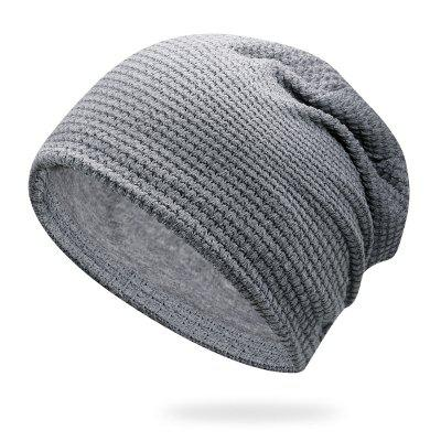 Small Square Head Cap Knit Hat Pile Cap + One Size Has Elasticity for 56-59CM