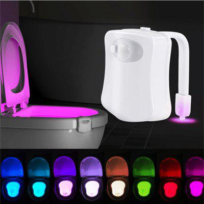 MAGOTAN Induction Toilet Seat Night Light 8 Color Toilet Waterproof Light