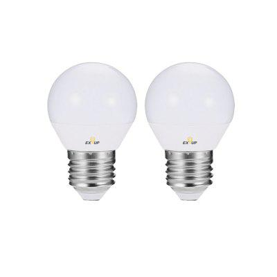 EXUP LED G45 4W E27 Globe Bulb 220v -240v LED Bulbs 2PCS
