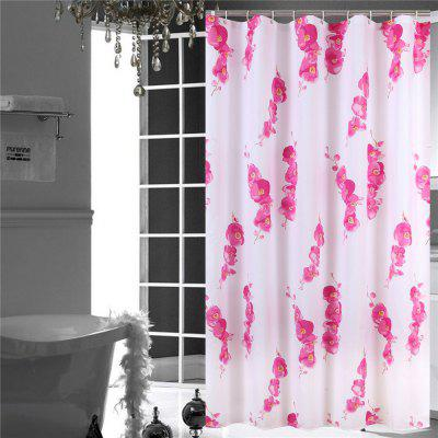 Polyester Waterproof Polyester Bathroom Partition Hotel Bathroom Curtain Flower