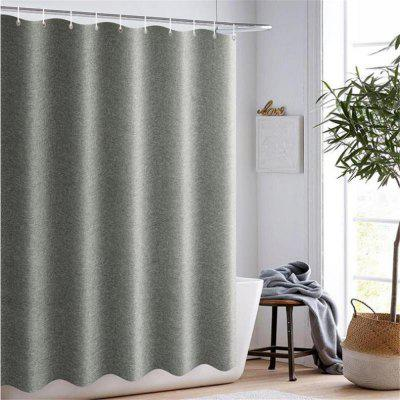 Nordic Style Linen Bathroom Curtain Partition Curtain without Punching