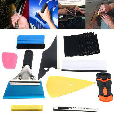 Car Window Tint Wrapping Vinyl Tools Squeegee Scraper Applicator Kits