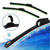 16 Inch Car Windshield Wiper Blade For U-Type Hook Rubber Frameless Bracketless - BLACK