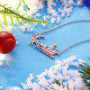 Christmas Series Necklace 18-INCH Sleigh Car  Necklace - ROSE GOLD
