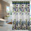 Leaf Pattern Shower Curtain Waterproof and Mildew-Proof Bathroom Partition - YELLOW GREEN