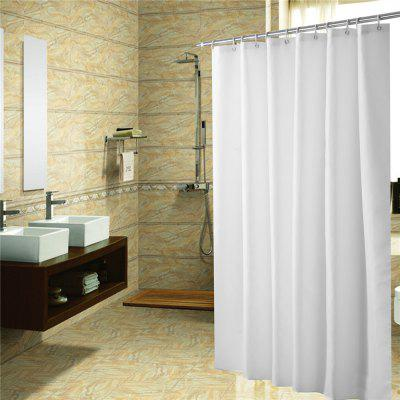 Plain Polyester Waterproof Bath Curtain Bathroom Partition Curtain Mildew Proof