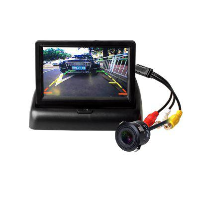 ZIQIAO 4.3 Inch Folding Monitor and Rearview Camera Night Vision Waterproof