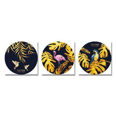 Tropical Bird Plants Print Art 3PCS