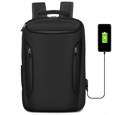 Men Anti-Thief Waterproof 15 Laptop USB Backpack Travel School Computer Bag