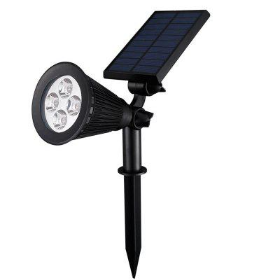 Zonne-schijnwerper Gazon Flood Light Outdoor Garden 4 LED Wandlamp Landschapslicht
