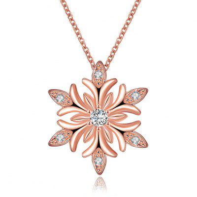 Snow Flower Fashion Necklace Zircon Christmas Necklace