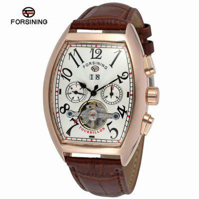 FORSINING A597Multifunctional Business Casual Leather Automatic Mechanical Watch