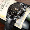NIBOSI 2353 Men's Quartz  Business Men Watch Sports  Waterproof Wristwatch - JET BLACK