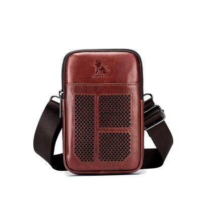 LAOSHIZI LUOSEN Men'S Leather Packet Multifunctional Waistband Mini Men'S Bag