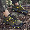 Men Shoes Large Size Outdoor Hiking Casual Slip Wear Sneakers - ARMY GREEN