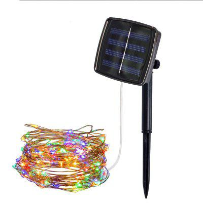 MAGOTAN  5M 50LED Copper Wire Solar Light String 8 Pattern Fairy Light