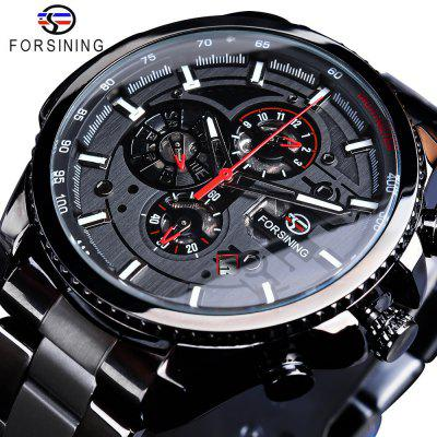FORSINING F091 Men'S Waterproof Six-Needle Automatic Mechanical Watch