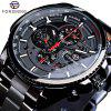 FORSINING F091 Men'S Waterproof Six-Needle Automatic Mechanical Watch - BLACK
