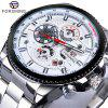 FORSINING F091 Men'S Waterproof Six-Needle Automatic Mechanical Watch - WHITE