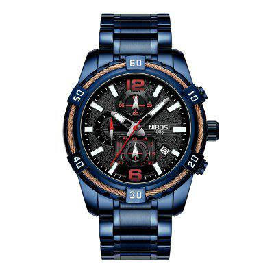 NIBOSI 2335 Chronograph Sport Watch Men Military Waterproof Quartz Watch