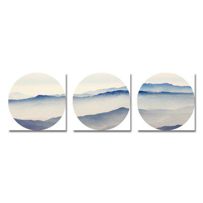 New Chinese Abstract Mountain Scenery Print Art 3PCS
