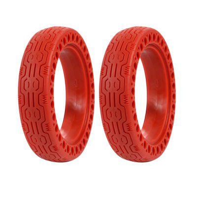Rubber Solid Front Rear Tire with Hollow Design 2Pcs for Xiaomi M365 / M365 Pro