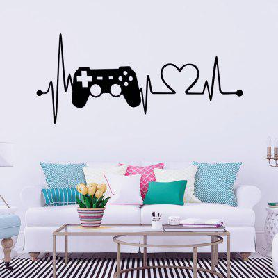 Heartbeat Game Machine Carved Home Background Wall Decoration Removable Stickers
