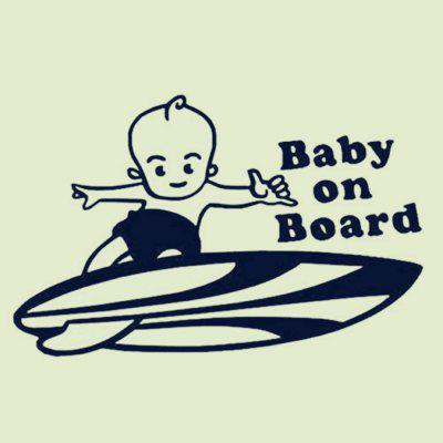 BABY ON BOARD Skateboard Boy Adesivi di Auto Decorazione Removibile Adesivo