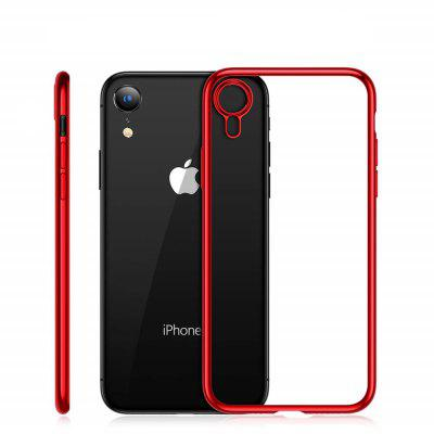 Electroplated Frame Soft TPU Silicone Phone Case Cover for iPhone XR