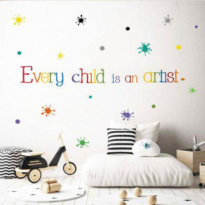 Color Words Quotes PVC Wall Sticker