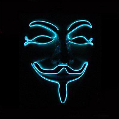 Halloween EL Mask Glow LED Illuminated Vendetta