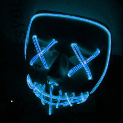EL Halloween Glowing Mask Prom Dress Up Party LED Mask