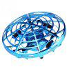 Mini UFO Drone with Light Hands-free Hovering Drone Automatic Sensing Obstacle - BLUEBERRY BLUE