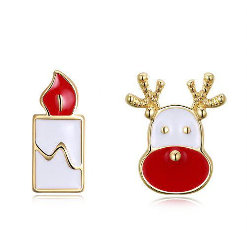 Christmas Oil Dripping Santa Claus Candle Earring Plated with Gold Sale,  Price & Reviews | Gearbest