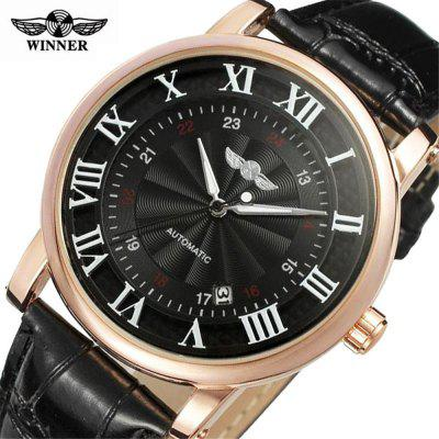 WINNER TM142 Opasok Business Casual Calendar Automatic Mechanical Watch