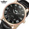 WINNER TM142 Opasok Business Casual Calendar Automatic Mechanical Watch - MULTI-A