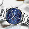 NIBOSI 2328 Men Military Sports Watches Men's Quartz Date Casual Wrist Watch - BLUE GRAY