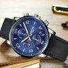 NIBOSI 2328-PD  Military Sports Watches Men's Quartz Casual Leather Wrist Watch - BLUE GRAY