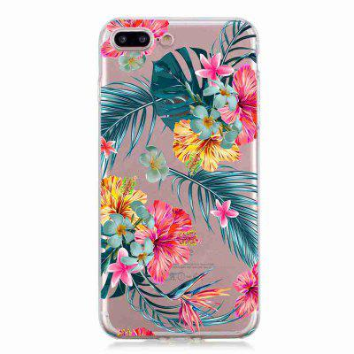 Uma capa de telefone TPU Hollow Flower Painting para iPhone 7 Plus / iPhone 8 Plus
