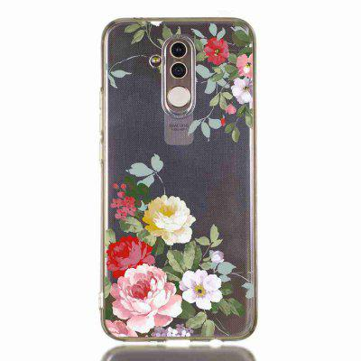 TPU Hollow Flower Painting Phone Case do Huawei Mate 20 Lite / Maimang 7