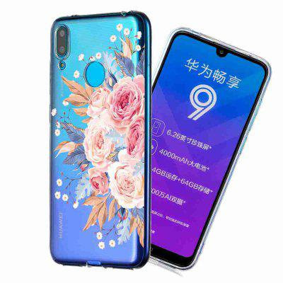 TPU Hollow Flower Painting Phone Case do Huawei Y7 2019 / Enjoy 9 / Y7 PRIME 2019