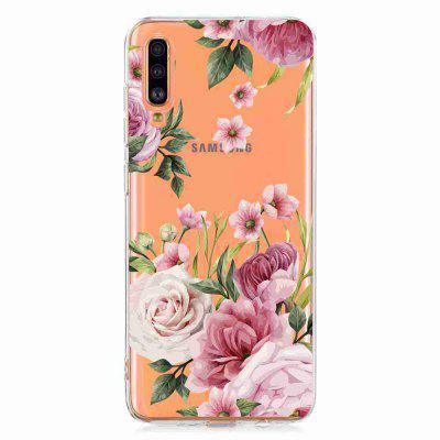 TPU Hollow Flower Painting Telefonkasten für Samsung Galaxy A70