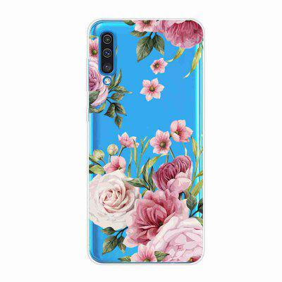TPU Hollow Flower Painting Telefonkasten für Samsung Galaxy A50