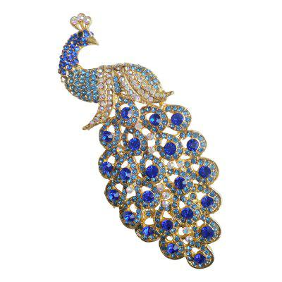 FEIS Fashion Delicate and Luxurious Peafowl Brooch